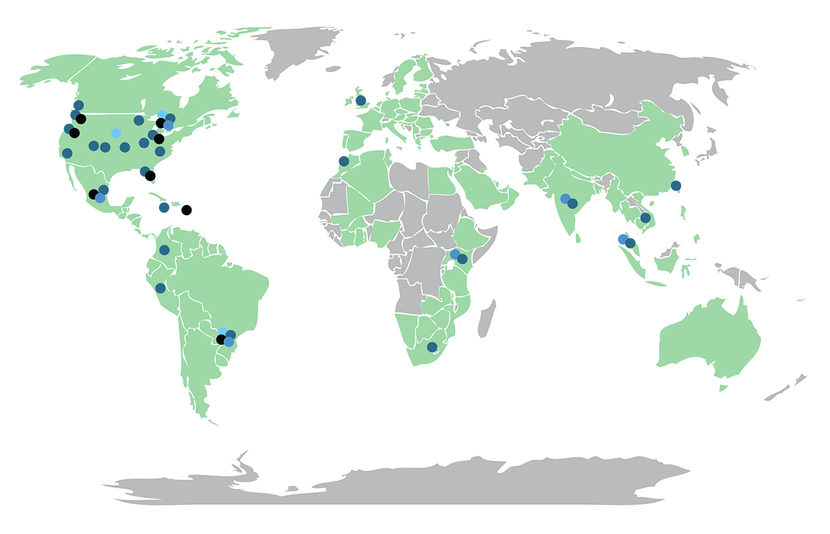 Labs, Sales and Manufacturing locations