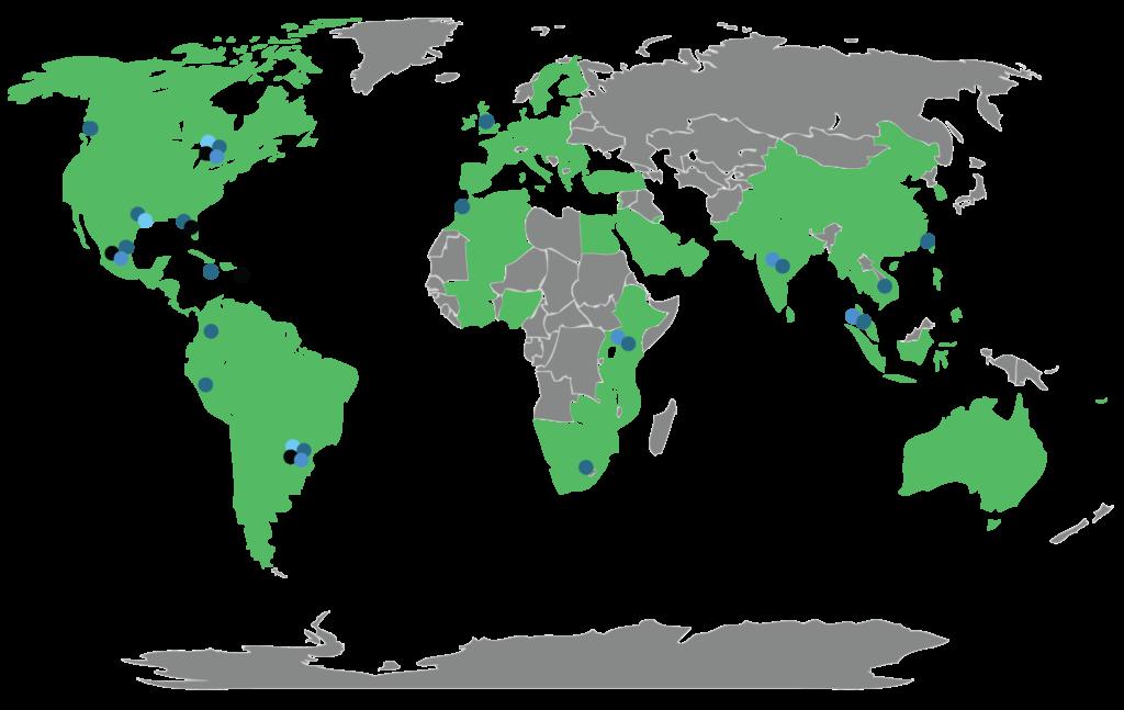 Global Reach Map